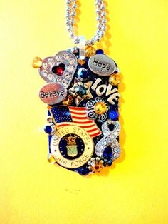 United States Air Force Dog Tag Pendant Number 939 by BradosBling, $34.99