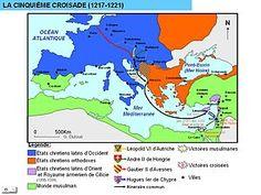 Quinta cruzada. Fue un conjunto de acciones militares provenientes de Europa Occidental para retomar Jerusalén y el resto de Tierra Santa derrotando en primer lugar al poderoso estado ayubí de Egipto.