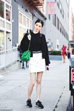 New_York_Fashion_Week_Spring_Summer_15-NYFW-Street_Style-New_Balance-Silver_Skirt-2
