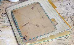 Heidi Swapp mini memory file book - great mini album idea