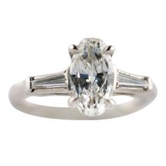 Charming Old Cut Diamond Engagement Ring | From a unique collection of vintage engagement rings at http://www.1stdibs.com/jewelry/rings/engagement-rings/