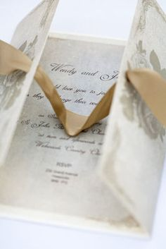 Victorian Rose wedding gatefold invitation I thought you liked this idea when we looked earlier...