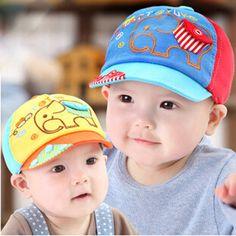 Infant Cap with Elephant Style Pocket for Newborn Baby Boy Girl  Hotwire  Kids Baseball Cap 85ae2de90f1