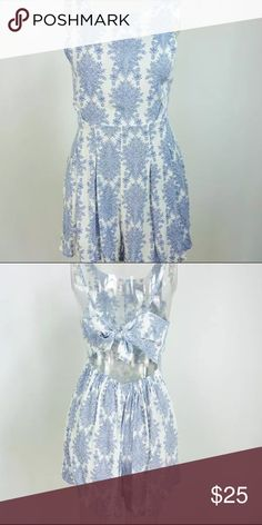 Bow romper Blue and white Romper that you can tie in the back like a bow Pants Jumpsuits & Rompers
