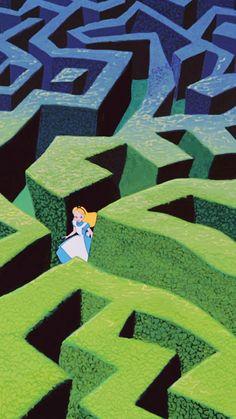 Disney Magic, Disney Art, Disney Movies, Disney Pixar, Alice Disney, Cartoon Wallpaper, Disney Phone Wallpaper, Alice In Wonderland Aesthetic, Alice In Wonderland 1951