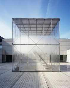 Tetsuo Kondo and Transsolar collaborate on a vinyl and steel box filled with artificial clouds at the Museum of Contemporary Art Toyko.
