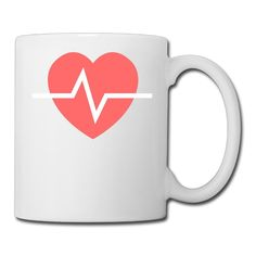Ceramic Unisex Red Heart Coffee Mugs 11oz Printed On Both Sides *** Remarkable product available now. : Cat mug