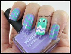 piCture pOlish Blog/Insta Fest 2014 - Jade & Wisteria + Mini Chevron NailVinyls = nails by Betty Beauty Bombs! Shop on-line: www.picturepolish.com.au