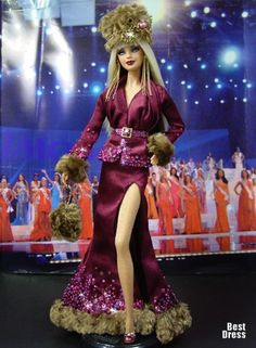 OOAK barbie pageant dolls by NiniMomo Creations Barbie Miss, Barbie And Ken, Beautiful Barbie Dolls, Vintage Barbie Dolls, Color Magenta, Poppy Parker, Glamour, Barbie Collector, Barbie Friends