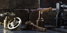 exciting contemporary industrial design style bathroom tapware and accessory collection available from Just Bathroomware Sydney