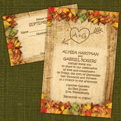 Custom Rustic Fall Wedding Invitations by PuttinOnTheGlitz4U, $3.95