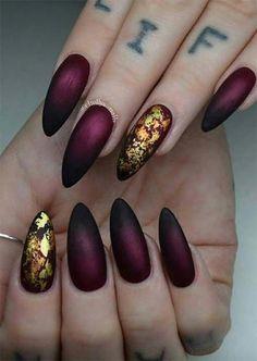 How to Do 35 Cool Acrylic Nail Designs – Long Nails – Long Nail Art Designs Acrylic Nail Art, Acrylic Nail Designs, Nail Art Designs, Nails Design, Acrylic Nails For Fall, Nails Yellow, Burgundy Nails, Burgundy Nail Designs, Black Gold Nails