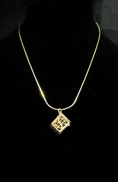 A beautiful locket that can hold a dollar bill ( if you are a good folder).. For the person who always needs a little mad money, this adorable