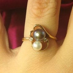 Image result for vintage pearl rings