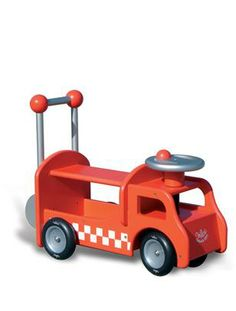Picture of Vilac wooden Ride-on Fire Truck