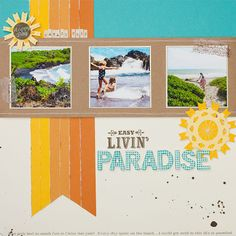#papercraft #scrapbook #layout        jeanettelynton.com: Spotlight on Art: The Color of Summer