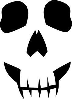Skull Face Template Print this out and place on pumpkin and carve! Halloween Wood Crafts, Halloween Stencils, Halloween Painting, Scary Halloween, Halloween Pumpkins, Halloween Templates, Halloween Ideas, Pumpkin Face Carving, Pumpkin Stencil