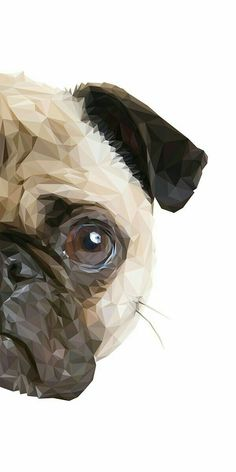 "Visit our site for even more information on ""black pug puppy"". It is a great area to learn more. Cute Drawings, Animal Drawings, Pencil Drawings, Pug Wallpaper, Polygon Art, Pug Art, Art Sculpture, Animal Faces, Pug Love"