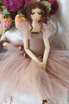 Купить Коллекционная кукла Балерина. Розовый. - бледно-розовый, розовый, балерина, коллекционная кукла
