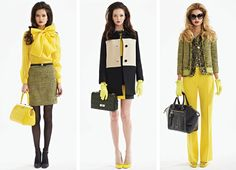 fall fashion 2013 yellow kate spade