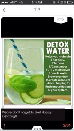 Detox Your Body. Drink Plenty Of Water.
