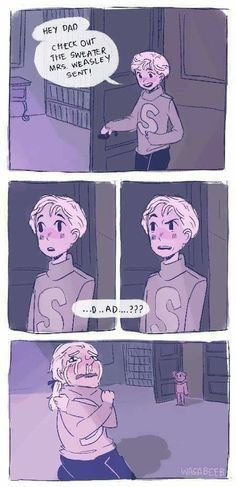 Scorpius and Draco; I still dislike Draco but am totes for the Albus/Scorpius relationship sooooo Harry Potter Comics, Harry Potter Jokes, Harry Potter Fan Art, Harry Potter Universal, Harry Potter Fandom, Harry Potter World, Harry Potter Anime, Hogwarts, Ron Weasley