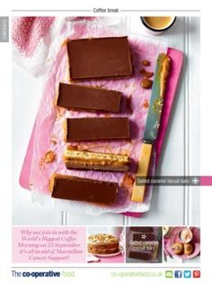 Check this out from the Co-operative Food Magazine September/October 2015 issue Caramel Biscuits, Sweet Treats, September, Magazine, Baking, Check, Desserts, Recipes, Food