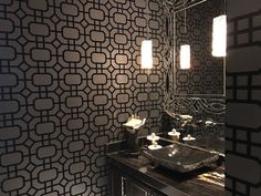 We're proud to be the wallpaper installer of choice for central Texas' top interior design firms! Be inspired by some favorite wallpaper projects. How To Install Wallpaper, Moon Painting, Paper Moon, Wallpaper Gallery, Design Firms, Pattern Wallpaper, Paper Design, Sink, Bedroom Wallpaper