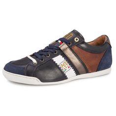 PESARO PICENO LOW - Op voetbal geinspireerde trendy en sportieve heren schoen van Pantofola. Het bovenwerk is uitgevoerd in leder en deze sneaker heeft een comfortabele pasvorm.