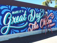 Lauren Hom — FREELANCE WISDOM Mural Painting, Mural Art, Wall Murals, Wall Art, Lauren Hom, Office Mural, School Murals, Murals Street Art, Colorful Artwork