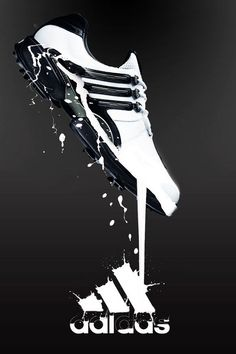This advertisement shows football boots by Adidas. It incorporates the Adidas logo into the advertisement at the bottom of the picture. Sports Marketing, Guerilla Marketing, Hypebeast, Sneakers Sketch, Shoe Poster, Shoes Ads, Hype Shoes, Creative Calendar, Sports Graphics