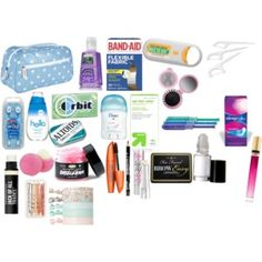A girls emergency kit for school