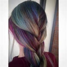 The Peacock Peek A Boo Highlights Hair Pinterest