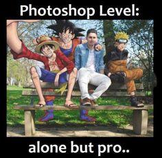 GEEK Photoshop Level: Alone but Pro ^^ & Webfail & Fail Bilder und Fail Videos Rage Comic, Funny Photoshop, Photoshop Pro, Photoshop Ideas, Photoshop Effects, Anime Crossover, Manga Anime, Funny Memes, Memes Humor