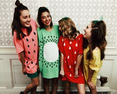 Halloween fruit costume - pineapple, watermelon, kiwi, strawberry