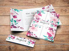 Vintage esküvői meghívó, virágos esküvői meghívó, rusztikus esküvői meghívó Big Day, Creative Ideas, Diy Creative Ideas