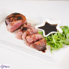 Duck breast with a delicious honey balsamic sauce - English recipe - a great Christmas main dish