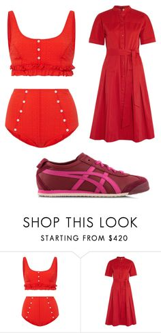 """""""Untitled #2433"""" by bellagioia ❤ liked on Polyvore featuring Lisa Marie Fernandez, Vanessa Seward and Onitsuka Tiger"""