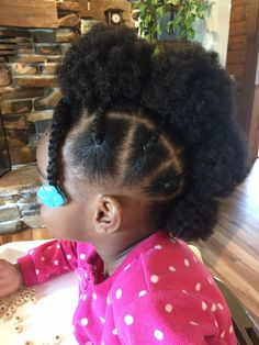 Saw this in a natural hair group for little girls on Facebook! I LOVE this! Simple and cute! Definitely gonna try on my baby girl!