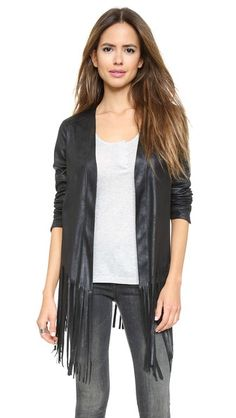 ONE by SW3 Bespoke Stowe Fringe Jacket - Soft, suede-like material, unlined - $298 at ShopBop