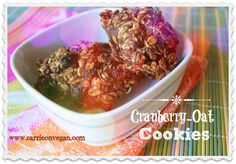 Cranberry Oat Cookies from Carrie on Vegan | www.carrieonvegan.com #nutritarian