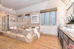 Traditional Master Bathroom with Liberty 3-3/4 in. steel bar cabinet hardware pull, Master bathroom, Hardwood floors