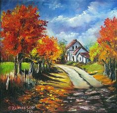 A lovely day in fall~~prints and cards available...also the original is still available~~