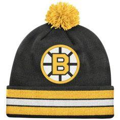 Mitchell   Ness Boston Bruins Black Vintage Jersey Stripe Cuffed Knit  Beanie by Mitchell   Ness.  20.99. Save 13% Off! 37699491f24