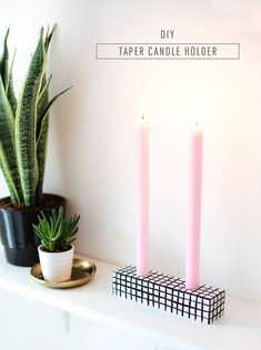 Patterned #DIY candle holder - sugar and cloth #homedecor #easy #candle #candleholder