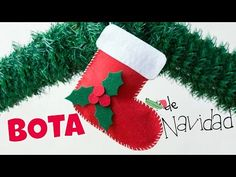 Calcetín de Navidad en fieltro - Manualidades Infantiles