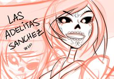 Adelita Sanchez  | WIP of tonight's brief Livestream featured the lovely Sanchez Twins ...