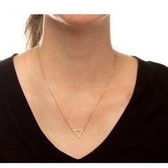 Triangle gold tone Balance necklace Adjustable up to 18 inches rand new Balance triangle necklace with card Sherri Souza Jewelry Jewelry Necklaces