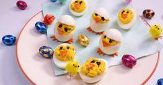 Recette: des œufs mimosas en forme de poussin - Pâques approche, et forcement les vacances de printemps aussi… Encore deux semaines...