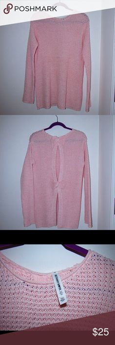 Aeropostale Bethany Mota Open Back Sweater This adorable light pink sweater is a size M, long, and over-sized. It has been in my closet and never been worn. Aeropostale Sweaters Crew & Scoop Necks